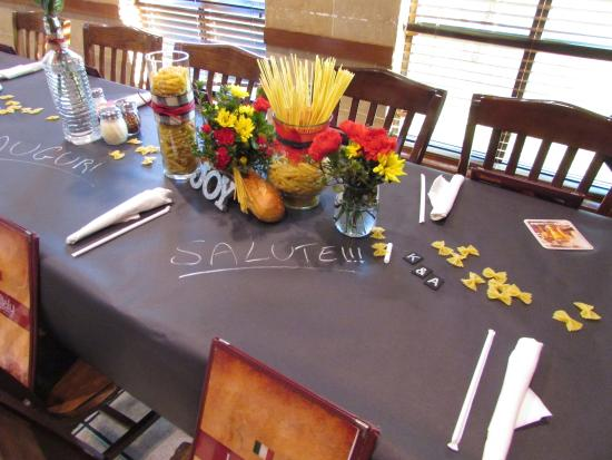 These are my decorations for the table for rehearsal dinner picture of little italy italian - Restaurant decor supplies ...