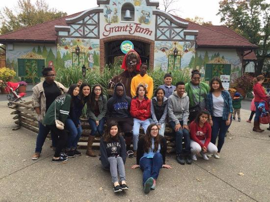 Grant's Farm: trio.nd.edu  Scholars from Upward Bound having fun in St. Louis!!  October 2015