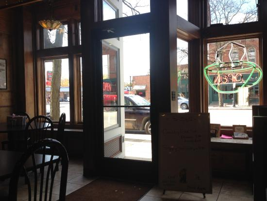 Romeo, MI: View of historic Main St,