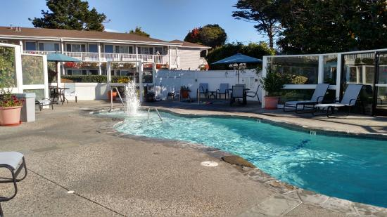 Monterey Bay Lodge: Playing at the pool