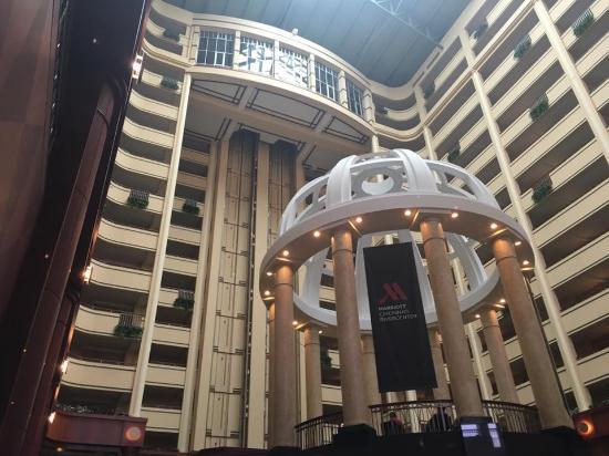 Cincinnati Marriott At Rivercenter Gazebo In The Lobby