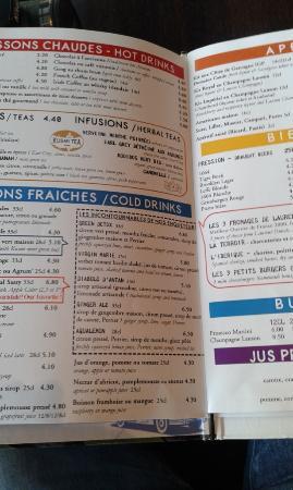 Cafe Le Quartier General Paris Menu