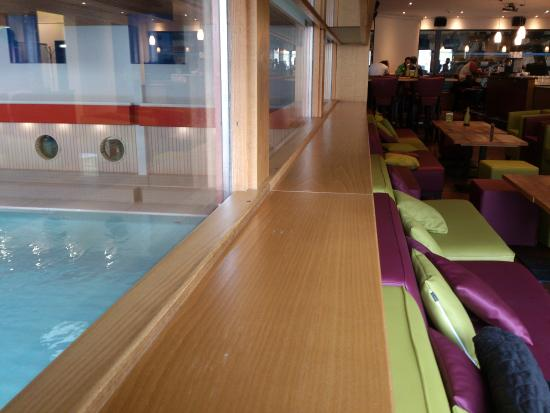 Grindelwald - Eiger+ Cafe Lounge - on the left indoor swimming pool