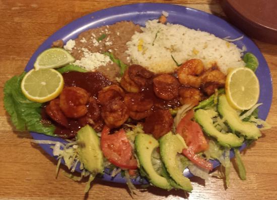 El Gallo Blanco: Spicy Shrimp! And I mean SPICY!