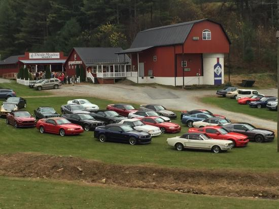 Laurel Springs, Carolina do Norte: Carolina Regional Mustang Club Wine Tour Week-end