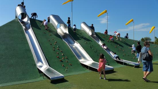 Blaxland Riverside Park Giant Slides Just One Of The Attractions