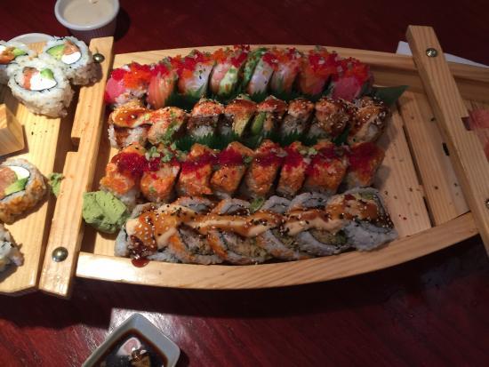 New Zealand Cafe Sushi Boat