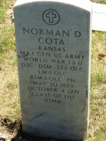 Highland Falls, Νέα Υόρκη: Grave marker of General Norman D Cota