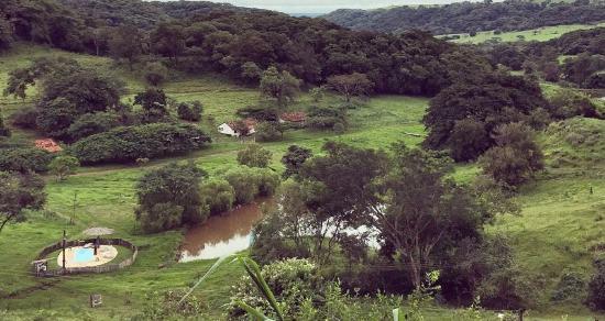 Dourado, SP: Linda paisagem da pousada.