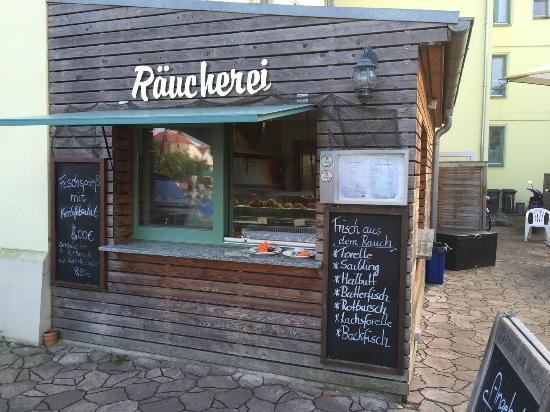 Malchow, Tyskland: die Räucherei