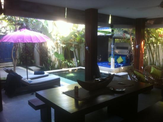 Pulau Boutique Villas: View from the kitchen