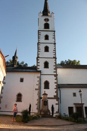 Frymburk, República Checa: костел в городе