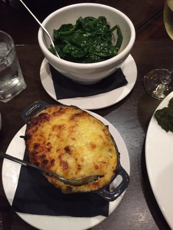 side orders of veg: cauliflower cheese and spinach - Picture of ...