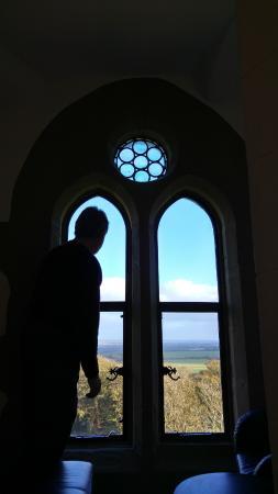 View from Roch Castle window