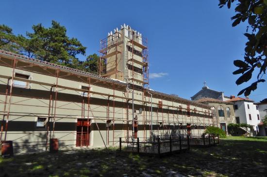 Sveti Martin, Croatie : Bauarbeiten am Wohnhaus