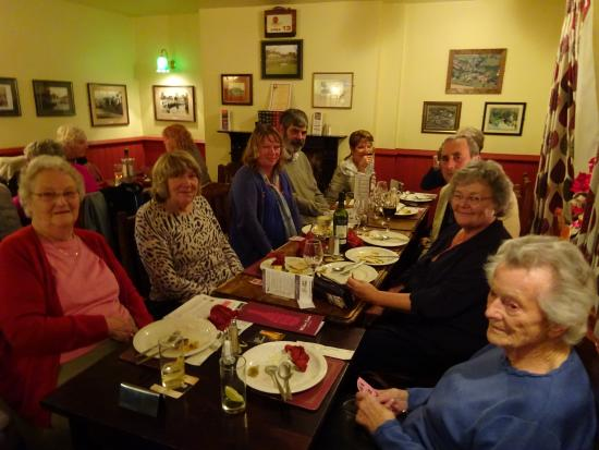 Coombe Bissett, UK: One of the three tables for our group