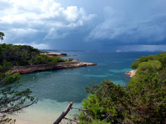 Beach Bungalows at Cala Gracioneta: Aussicht auf große Bucht