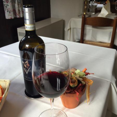 Tesserete, Suiza: Grande sella con un buon vino