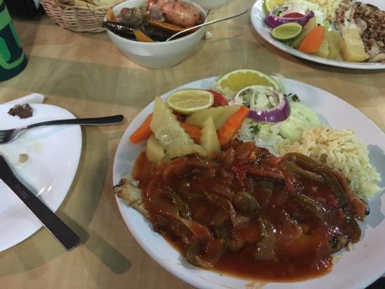 Fish dish picture of restaurant don cafeto tulum for Fish dish menu