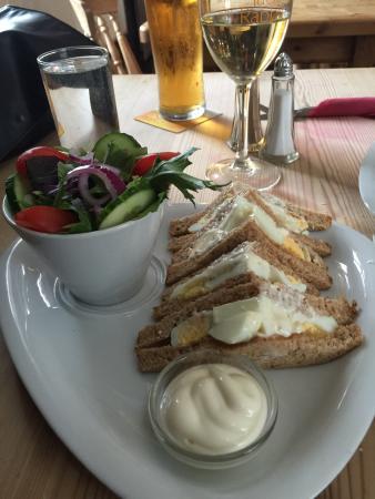 Longhope, UK: Egg sandwich