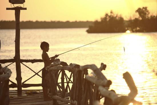 Funzi Island, Kenya : Fishing at Jetty