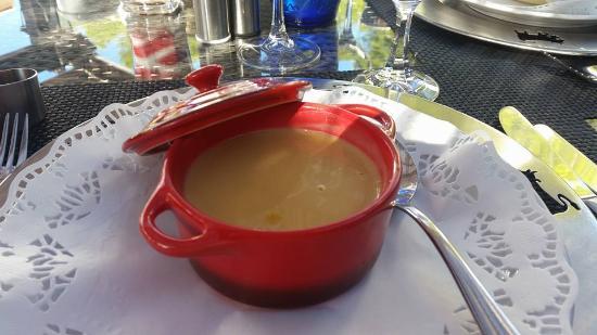 Chalet Suizo: Sopa de calabaza dulce.