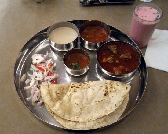 Kolhapuri Mutton Masala Thali - Picture of Dehati ...