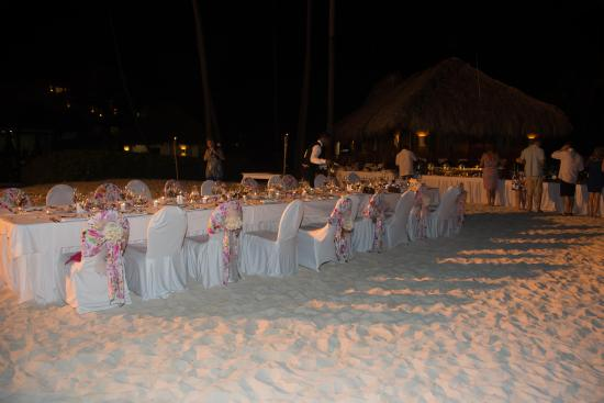 Now Larimar Punta Cana Wedding | Wedding Reception On The Beach Excellent Service And Food Picture