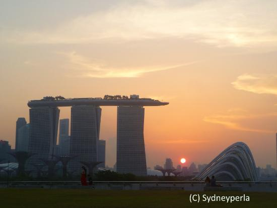 Sunset Skyline View from Marina Barrage