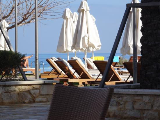 Cretan Dream Royal: view from dining area on pool area