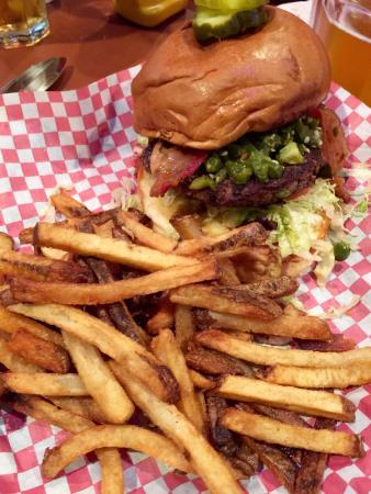 Milwaukee Burger Co. Bar and Grill: Jalapeno Peanut Butter Burger