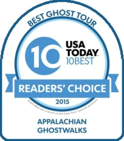 Appalachian GhostWalks' Reader's Choice Award from USA Today's 10Best
