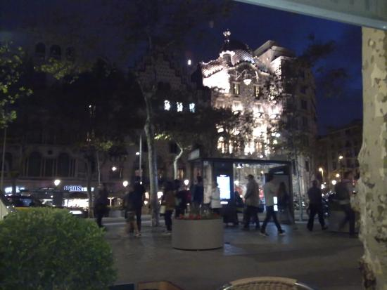 View to casa batllo from the restaurant picture of for Casa mcdonald