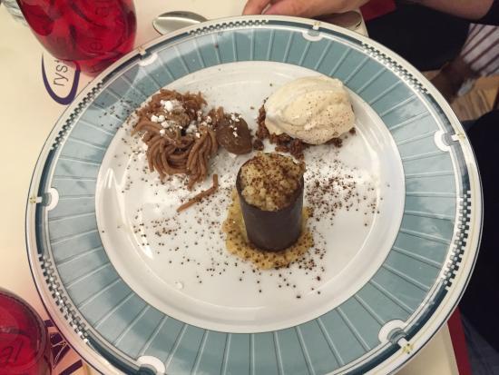 Trattoria Moderna Il Simposio: Tris di Marroni (Three tastes of Chestnuts)