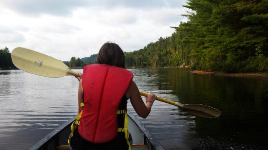 Oxtongue Lake, Canadá: My first time on a canoe in Canada!