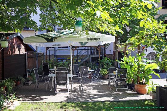 Hotel Alt Connewitz In Leipzig Garten Mit Freisitz Picture Of