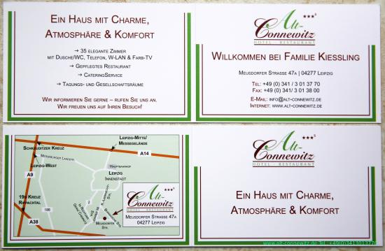 Hotel Alt Connewitz In Leipzig Visitenkarte Picture Of