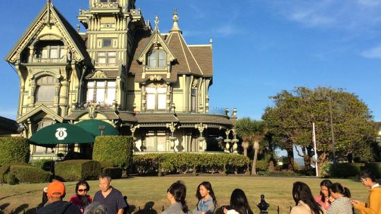 Eureka, CA: The Carson Mansion is the most photographed Victorian home in America. Richard Stenger/HCCVB