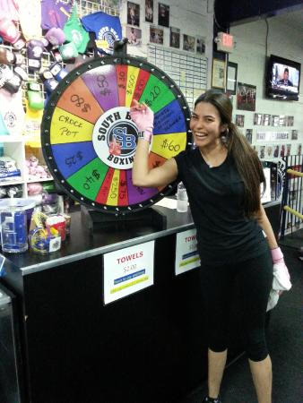 South Beach Boxing Spin The Wheel Win