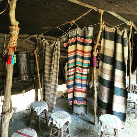 LaGrange, Джорджия: Inside of a Goat Hair Tent