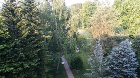 Harkany, Hungría: вид из окна