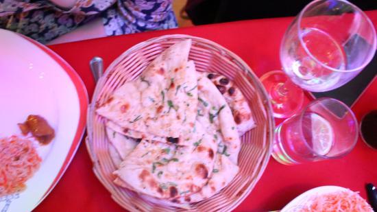 The Gurkha Restaurant: naan bread
