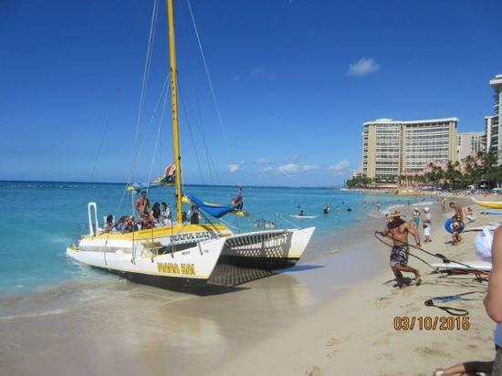 Catamaran On Waikiki Beach Picture Of Hilton