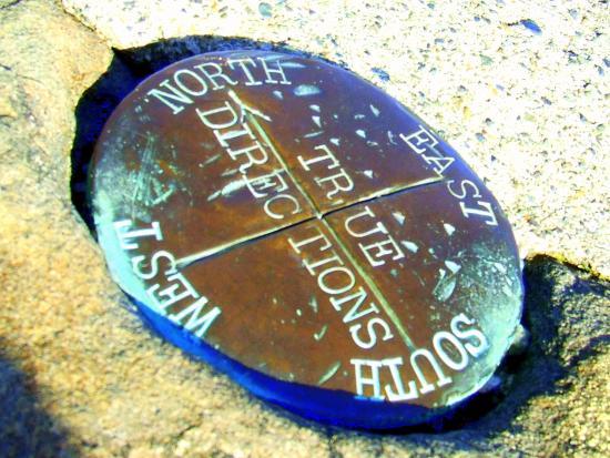 Moran State Park: Surveyor Pin atop Mt. Consitution