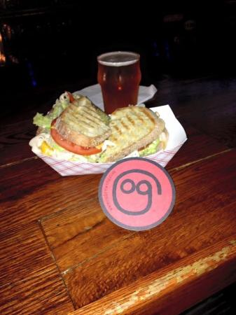 Original Gravity Brewing Compnay: Turkey Sandwhich on Sourdough bread and a South Paw IPA