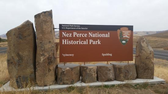 Spalding, ID: Nez Perce National Park  Sign on US Highway 95