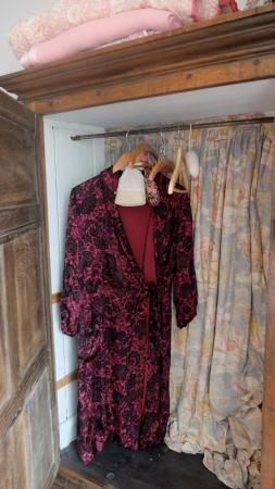 Brendan House & Tin Jug Studio: Vintage dressing gowns in each room, for the use of guests.