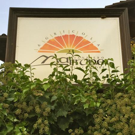 Agricola Fratelli Marrone : Signage outside the winery.