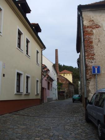 The Jewish Quarter and St Procopius' Basilica in Trebic: partie(cheminée) de l'ancienne tannerie