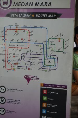 Peta Laluan Terbaru Picture of GO KL City Bus Kuala Lumpur